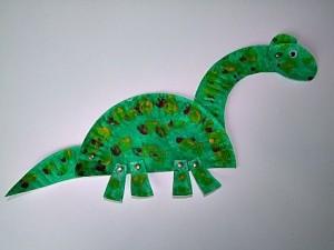 paper plate dinosaur craft idea (3)