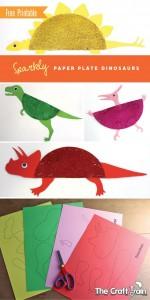 paper plate dinosaur craft idea (4)