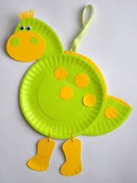 paper plate dinosaur craft idea (6)