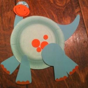 paper plate dinosaur craft idea (7)