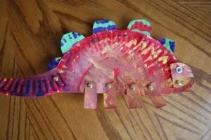 paper plate dinosaur craft idea (8)