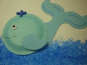 paper plate dolphin craft