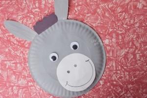 paper plate donkey craft