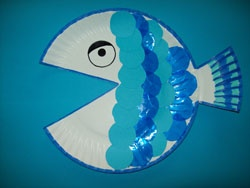 paper plate fish craft idea