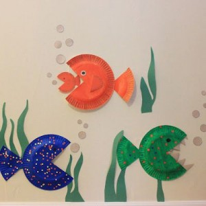 paper plate fishs
