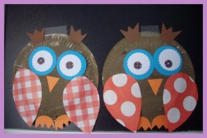paper plate owl crafts