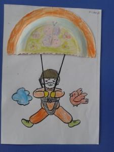 paper plate parachutist craft