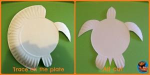 paper plate sea turtle