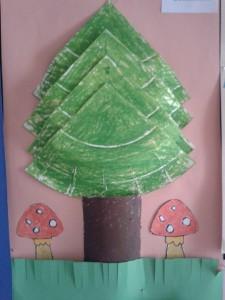 paper plate tree craft