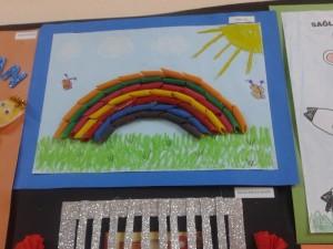 pasta rainbow craft