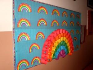 rainbow craft idea for kid