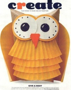 recyled owl craft