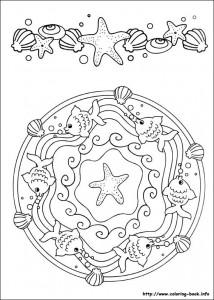 sea animal mandala coloring (2)