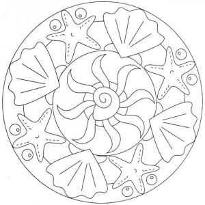 sea animal mandala coloring (6)