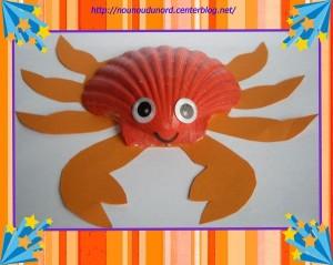 sea shell crab craft