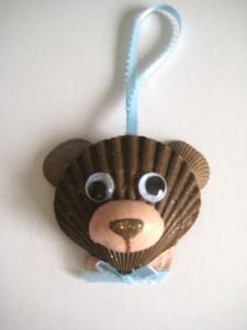 seashell bear craft