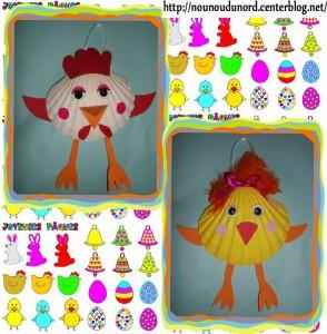 seashell chick craft