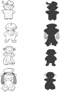 shadow matchng worksheet