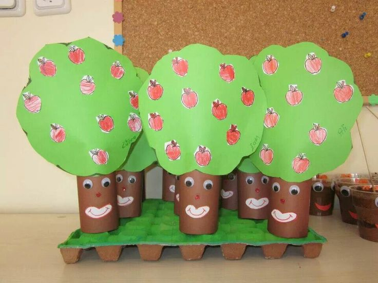 toilet paper roll tree craft