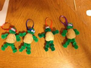 walnut ninja turtle craft