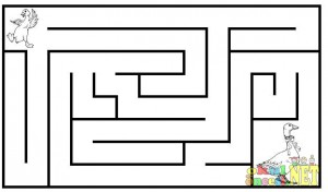 free mother's day maze worksheet