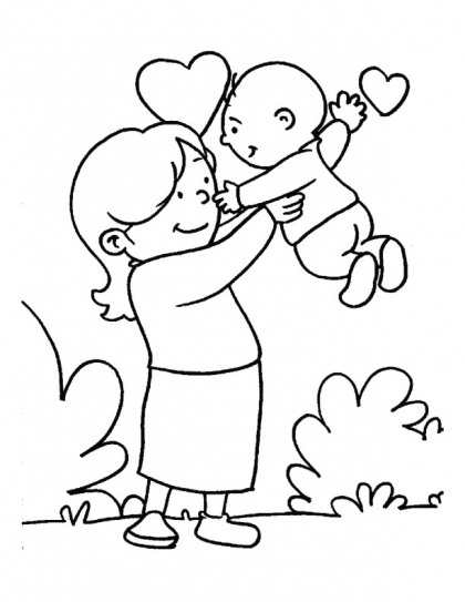 Mother S Day Coloring Page 12 Crafts And Worksheets For