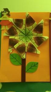 paper napkin flower craft
