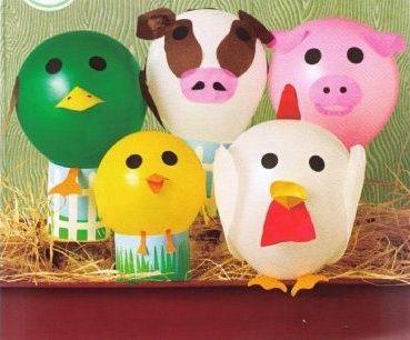 Balloon farm animals craft