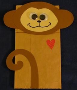Monkey Paper Bag Puppet