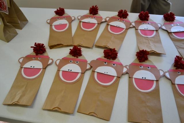 Monkey puppets.