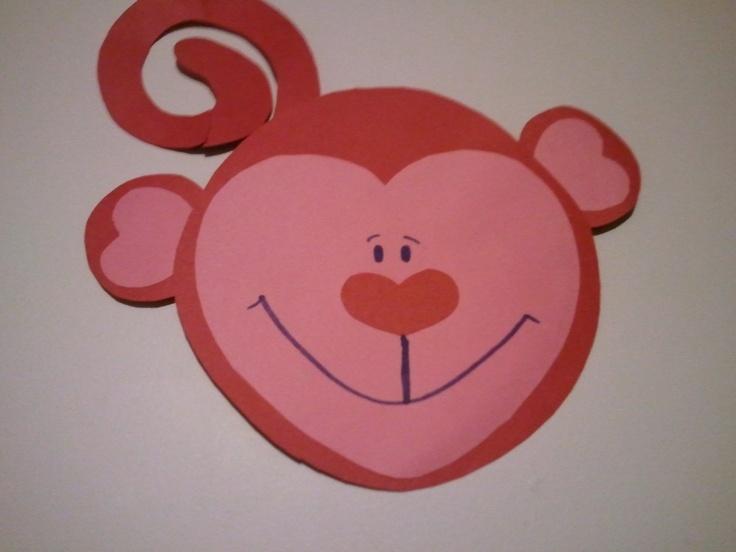 Valentine's Craft Heart Monkey