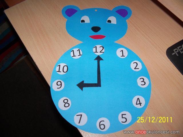 bear clock craft idea (2)