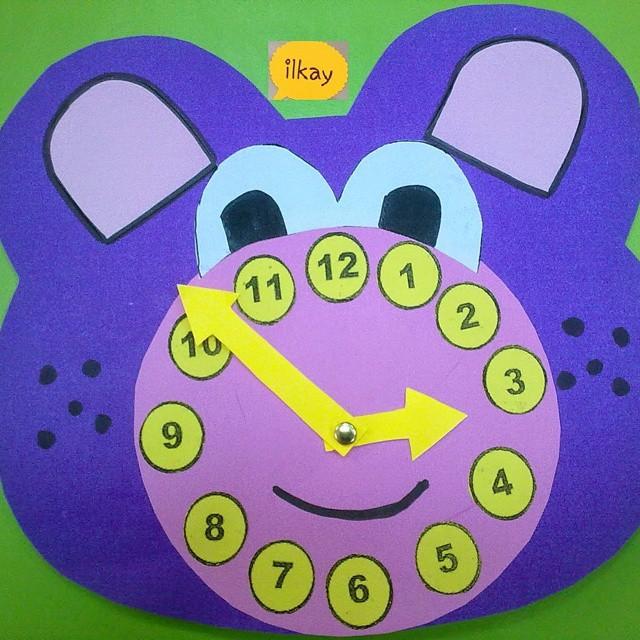 bear clock craft idea (4)