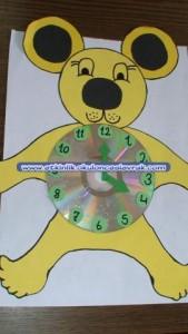 bear clock craft idea (9)