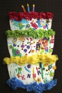 birthday cake craft