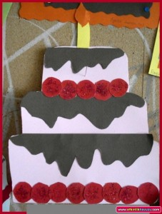 birthday cake craft idea