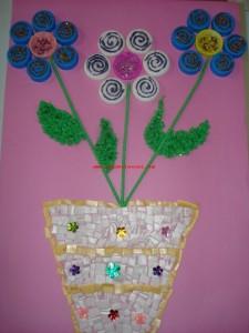 bottle cap flower craft