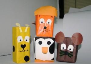 box animals craft idea for kids