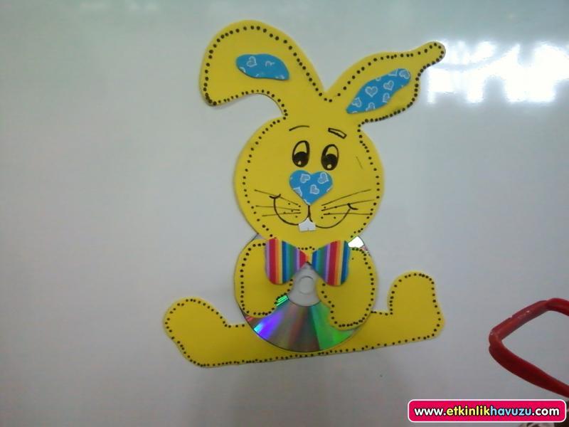 cd bunny craft idea