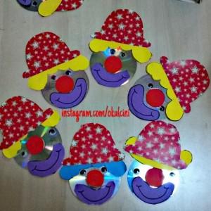 cd clown craft idea