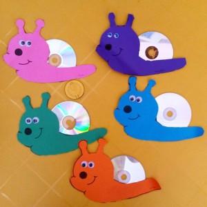 cd snail craft idea for kids (1)