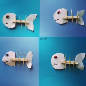 clothes pin fish craft