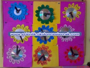 flower clock craft (2)