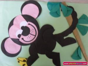 free monkey craft idea for kids (1)