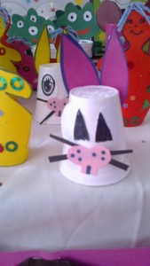 free paper cup bunny
