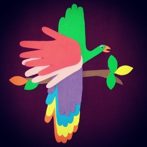 free parrot craft idea for kids (1)