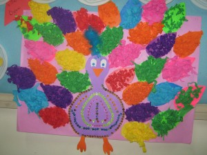 free peacock craft idea for kids (2)