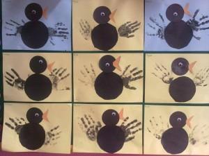 handprint crow craft