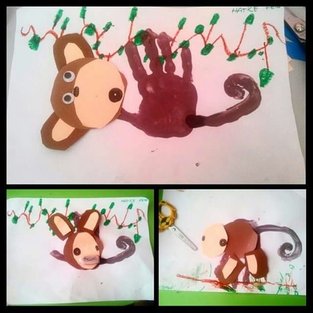 handprint monkey craft (2)