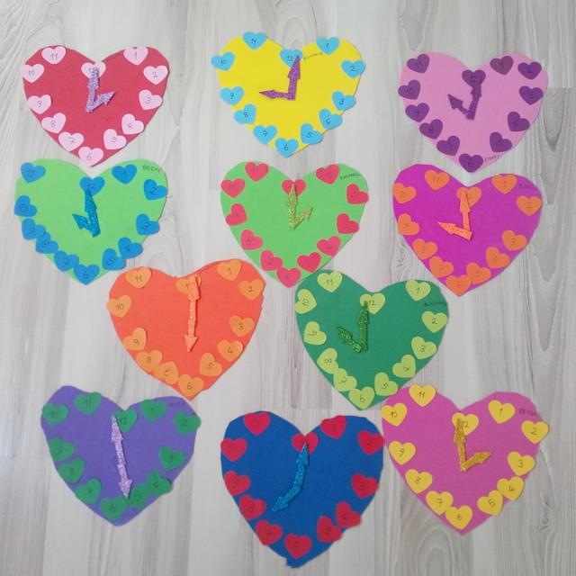 heart clock craft